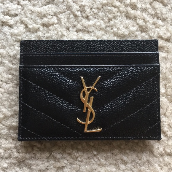 eaccc09844a Yves Saint Laurent Bags | Authentic Ysl Monogram Leather Card Case ...